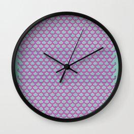 Mermaid Scales Violet Wall Clock