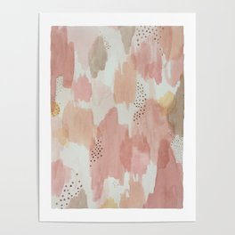 Watercolor pastels Poster