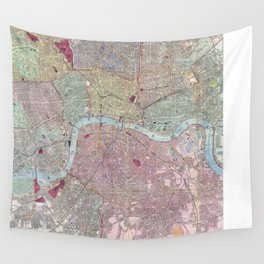 Vintage Map of London England (1892) Wall Tapestry