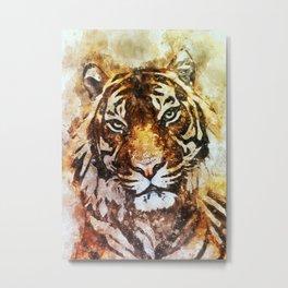 Tiger canvas art Metal Print