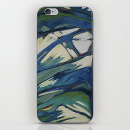Blue and Yellow Trees iPhone Skin