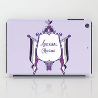 asexual iPad Cases featuring Asexual Rogue by armouredescort