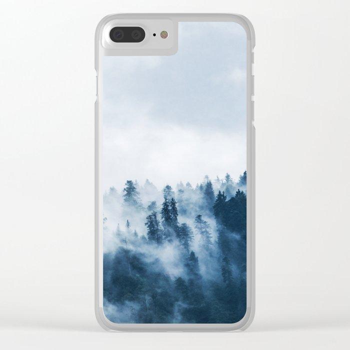 Smoke & Fog #blue Clear iPhone Case