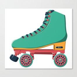 old school roller skate Canvas Print
