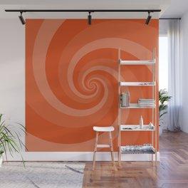 orange vortex Wall Mural