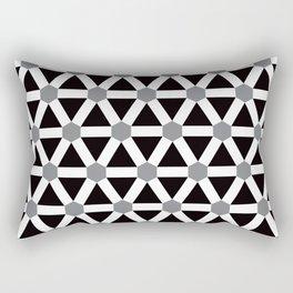Geometric Pattern 176 (gray triangle grid) Rectangular Pillow