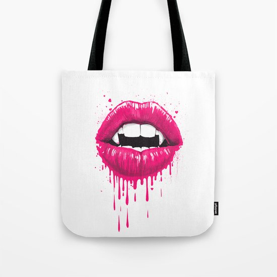 vampire lips Tote Bag