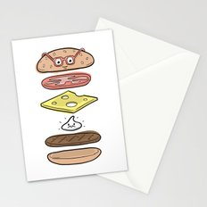 Friends Go Better Together 4/7 - Hamburger and Mayo Stationery Cards