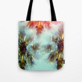 Egyptian Palm Trees Kaleidoscope Tote Bag