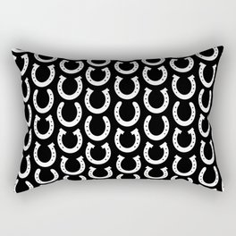 White Horseshoes Rectangular Pillow