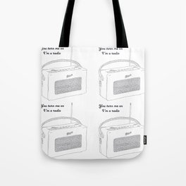 Joni Mitchell You Turn Me On I'm A Radio Tote Bag