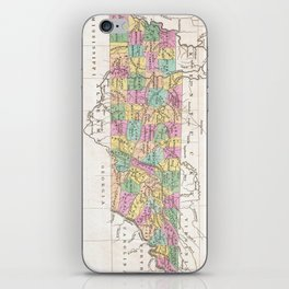 Vintage Map of Tennessee (1827) iPhone Skin