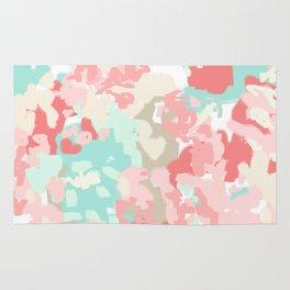 Florence - abstract trendy colors gender neutral seaside coral tropical minimal mermaids Rug