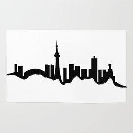 Toronto Skyline - White Rug
