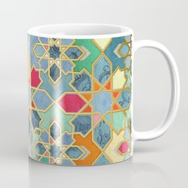 Gilt & Glory - Colorful Moroccan Mosaic Kaffeebecher