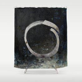 Enso #5 - Ghost Shower Curtain