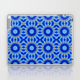 Blue and Yellow Circle Repeating Pattern Laptop & iPad Skin