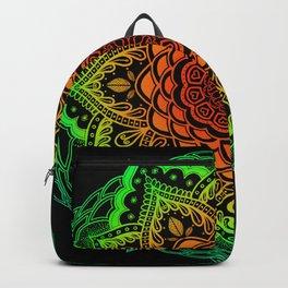 Mushroom Love Rainbow Mandala Backpack