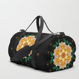 Yellow flower motif Duffle Bag