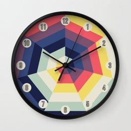 Heptagon Quilt 2 Wall Clock