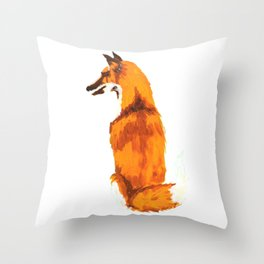 Red Fox Throw Pillow