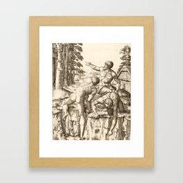 The climbers Framed Art Print