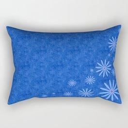 Fleurs Bleues Rectangular Pillow