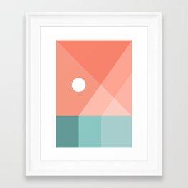 Geometric Landsape 12 Framed Art Print