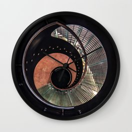 Spiral glass staircase Wall Clock