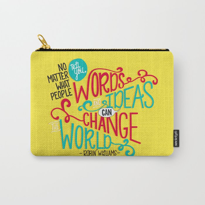 Words and Ideas Carry-All Pouch