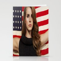 american Stationery Cards featuring American by Michelle Rosario