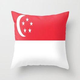 Flag of Singapore Throw Pillow