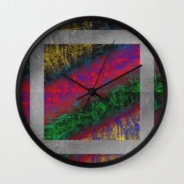 Psychedelic Petrified Wood Wall Clock