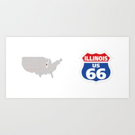 Route66 Illinois Art Print