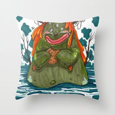 Cookie Swamp Monster Throw Pillow