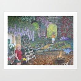 Maxine's Garden Art Print