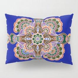 Bee Mandala Blue Pillow Sham