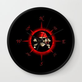 Pirate Compass Rose Wall Clock