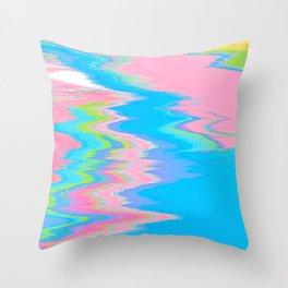 Neon Spill Abstract Throw Pillow