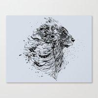 leo Canvas Prints featuring Leo by Daniac Design