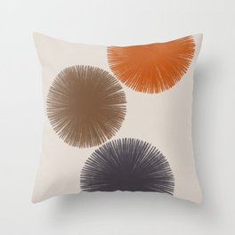 Abstract Circles III Throw Pillow