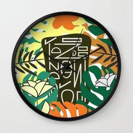 Tropical tablet Wall Clock