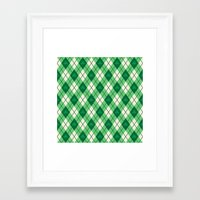 irish Framed Art Prints featuring Irish Argyle by Fimbis
