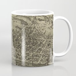 Vintage Pictorial Map of McDonald PA (1897) Coffee Mug