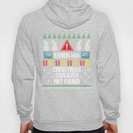 Error 404 Not Found Computer Programmer Developer Funny Christmas Gift Hoody