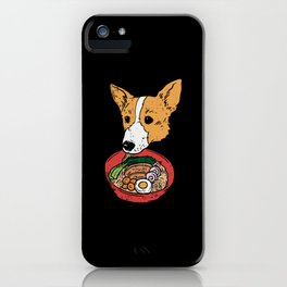 Corgi Eating Ramen - Gift iPhone Case