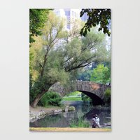 central park Canvas Prints featuring Central Park by Elizabeth Chung