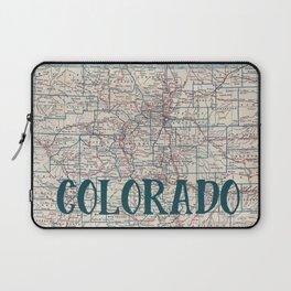 Colorado Map Laptop Sleeve