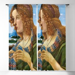"Sandro Botticelli ""Allegorical Portrait of a Lady (Simonetta Vespucci ?)"" Blackout Curtain"