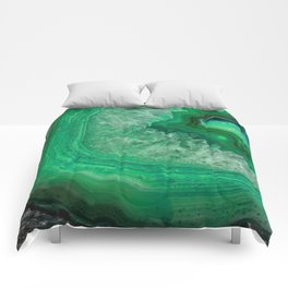 Green Emerald Agate Comforters